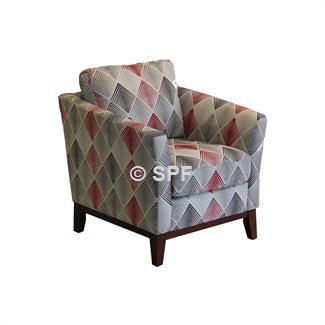 Rosa Accent Chair (Lagoon Scarlet)