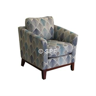 Rosa Accent Chair (Lagoon Denim)