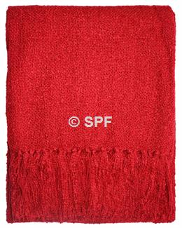 Boucle Throw - Red