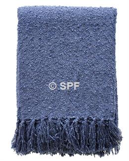 Boucle Throw - Navy Blue